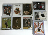 TIM DUNCAN SPURS LOT OF (9) RC ROOKIE INSERT AND GAME USED CARDS LOOK!!!