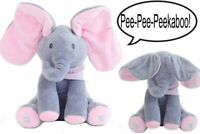 Peek-a-Boo Animated Talking Singing Elephant Plush Stuffed Child Toy Gift