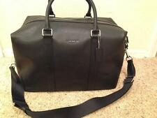 $700 NEW COACH  Men's Voyager Sport Calf Leather Black Duffle Travel Bag