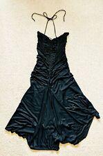 Miu Miu Vintage Stretch Ruched Black Evening Party Dress Size 44 UK12