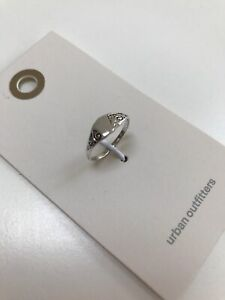 Urban Outfitters Silver Colour Signet Ring. Size Medium/Large