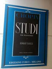 CHOPIN STUDI PER PIANOFORTE EDIZIONI CURCI ALFREDO CASELLA