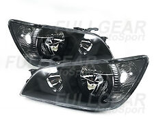 BLACK w/ CLEAR HEADLIGHTS FOR LEXUS IS300 2001-2005 COMPATIBLE WITH FACTORY HID