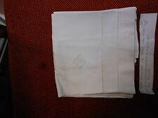 Federa lino orlo a giorno cifre C.G. cm. 80x49  B10 Linen Pillowcase