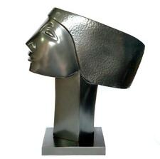 """OSWALDO GUAYASAMIN """"The Head"""" Great Original Bronze Sculpture Sealed and Signed."""