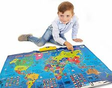 Interactive Talking World Map For Kids Push Learn And Discover Over 1000 facts