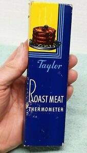 Vintage TAYLOR ROAST MEAT THERMOMETER 5936 BOX INSTRUCTIONS