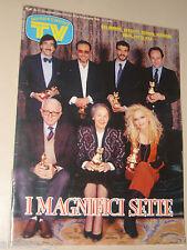 TV SORRISI CANZONI=1989/4=TELE GATTO=GIELE DIX=BERNARD BLIER=CHARLIE MARCHINO=