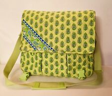 "VERA BRADLEY ""Citrus""(retired) Lime Green Computer, Messenger Carry All Bag Case"