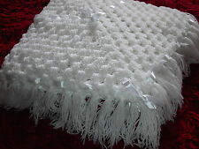 Hand made crochet hand made baby shawl/blanket