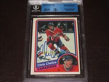 CHRIS CHELIOS AUTOGRAPHED 1984-85 O-PEE-CHEE ROOKIE CARD-JSA/BGS SLAB