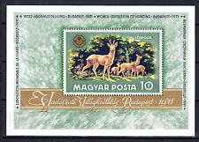 HUNGARY MAYAR 1971 Animals Deers souvenir sheet MNH FREE SHIPPING