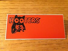 NEW HOOTERS Halloween Casino Waitress Uniform Attached Pin BLANK NAME TAG #3