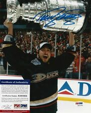TEEMU SELANNE SIGNED ANAHEIM DUCKS 2007 CUP 8x10 PHOTO PSA/DNA IN THE PRESENCE