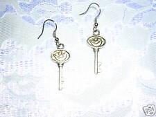 Pierced Earrings Key Jewelry Love Moon Keys Dangling
