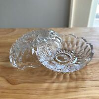 """Glass Clam Shell Box with Lid 3."""" Wide  x 2"""" High for Trinkets Rings"""