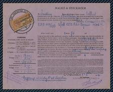 CONNAISSEMENT MARITIME - Transport entre COGNAC et STOCKHOLM (Suède) - 1904