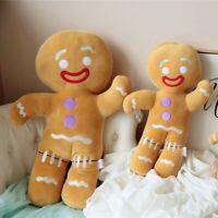 Anime Shrek Gingy Gingerbread Man COS Plush Doll Cute Stuffed Toy Kids Xmas Gift