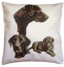 Labrador Chocolate Group Breed of Dog Themed Cotton Cushion Cover - Perfect Gift