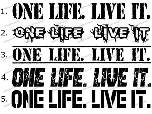 ONE LIFE LIVE IT, Stickers Decals X2, 4×4 Off Road Fits Land Rover discovery