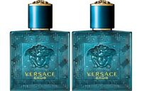2x Versace Eros Eau De Toilette for Men Miniatures Splash Samples New