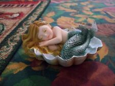 Beautiful Little Mermaid Sleeping In A Clam Shell New !