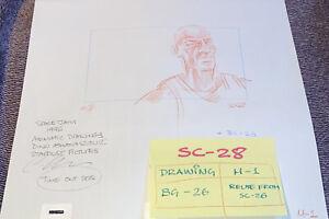 MICHAEL JORDAN SPACE JAM Hand Drawn Storyboarding Art Original Screen Used 1/1