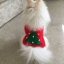 """xxs christmas 6"""" Long dog coat knitted jumper for chihuahua yorkie puppy teacup"""
