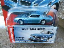 2016 AUTO WORLD 1:64 *PREMIUM 5C* Blue 1976 Pontiac Firebird T/A *NIP!*