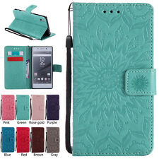 Flip Wallet Leather Magnet Pattern Bumper Card Case Cover For Sony Phone Holster