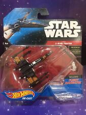 STAR WARS - HOT WHEELS DIE CAST POE'S X-WING FIGHTER with FLIGHT NAVIGATOR