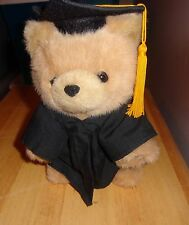 1997 GIBSON GREETING GRADUATION SOFT PLUSH TAN TEDDY BEAR CAP GOWN TASSEL
