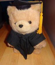 1997 GIBSON GREETING GRADUATION SOFT PLUSH TAN TEDDY BEAR CAP GOWN TASSEL