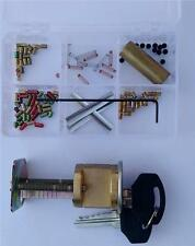 """Kwikset 5 pin """"You Build a Lock"""" Practice lock Kit with Spool & Serrated pins"""