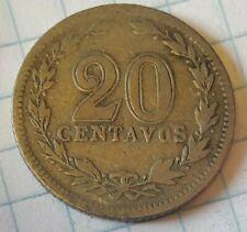 KM# 36 - 20 Centavos - Argentina 1907 (VF) Argentine