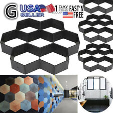Gardening Grids Pathway Mould Paving Concrete Step-ping Pavement Paver Us Stock