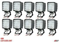 10x 48w 10-30v Led Work Flood Beam Lights Lamp Fits Jcb Bobcat John Deere Valtra
