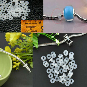 30pcs Silicone Rubber Rings Charm Stopper For Silver Bracelets Spacer Beads