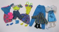 5 COMPLETE Barbie Fashion Doll Basics Outfit Ensemble with Matching Shoes Lot 23