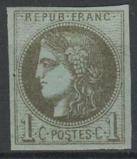 "FRANCE STAMP TIMBRE 39 Cc "" CERES BORDEAUX 1c R3 OLIVE BRONZE "" NEUF x TB  P323"