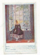 Künstler-AK Mela Köhler, Frau sitzt auf einer Fensterbank   (3)(P9)