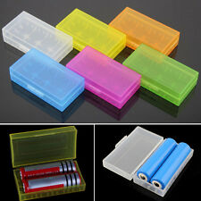 5X 18650 CR123A 16340 Hard Plastic Transparent Battery Case Box Holder Storage