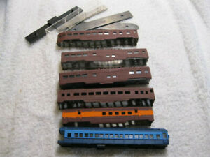 N Scale Lot of 6 Passenger Cars For parts or repair (Lot 22)