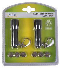 LED Mini Torches 2er Set + Batteries Minileuchte Key Ring Light