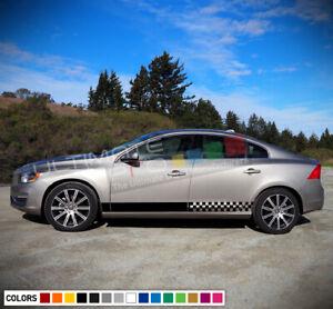 2x Side Stripe Decal Sticker Kit for Volvo S60 2015 2016 2017 2018 Lip Sport set