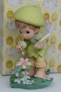 "Precious Moments Figurine ""Your Heart Fairy Colorful"" Imagine Stone 952966 '01"