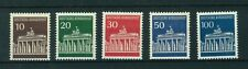 Germany 1966 Brandenburg Gate - Berlin Full set of stamps. Mint. Sg 1412-1415a.