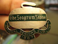 Canada The Seagram Stone National Seniors Curling 1967 silver enamel badge Birks