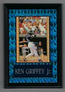 "Vintage 1990s 6.5"" x 4.5"" Card Plaque Ken Griffey Jr Kings of the Field #1"