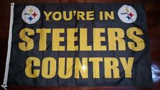 Pittsburgh Steelers Country 3x5 Flag. US seller. Free shipping within the US